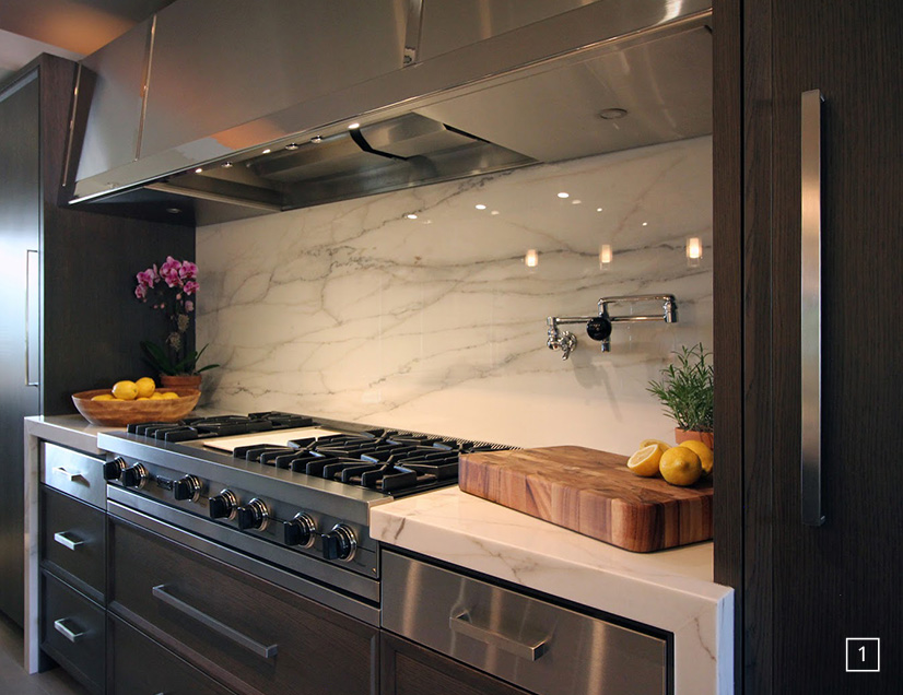 Marble Counter and Backsplash